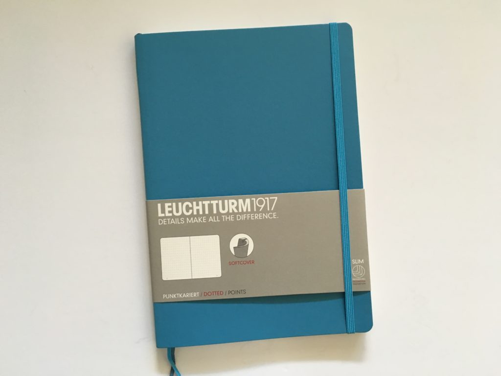 leuchtturm slim dot grid notebook review pen test pros and cons bujo medium size softcover gender neutral