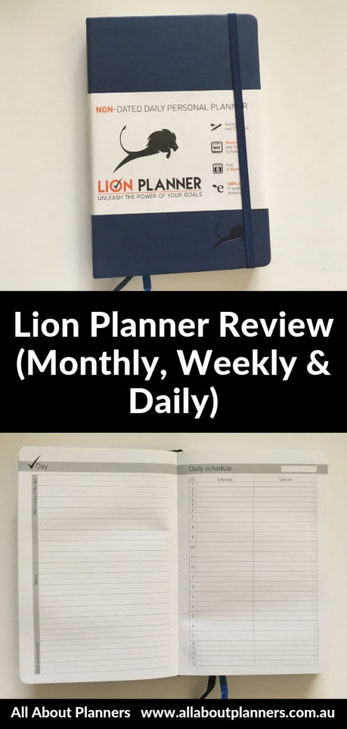 lion planner review daily weekly monthly pros and cons video review minimalist simple gender neutral undated