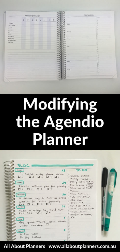 modifying the agendio planner weekly review pros and cons minimalist highlighter quick color coding