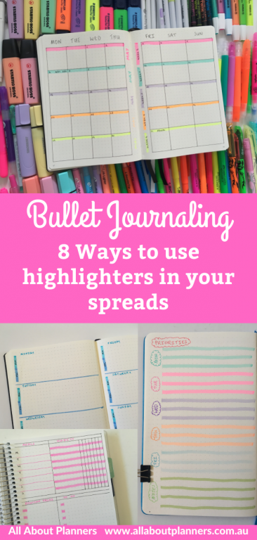 8 ways to use highlighters in your spreads bullet journal weekly monthly daily lists color coding tips inspiration ideas bullet journal newbie favorite brands recommended