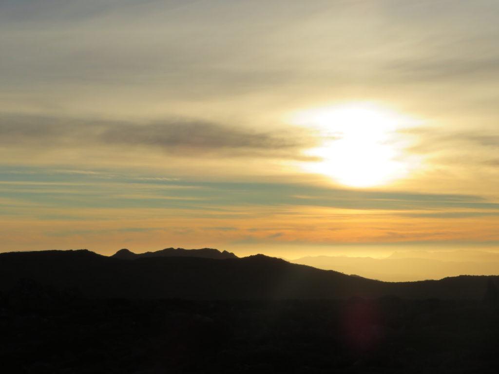 mount wellington sunset tasmania