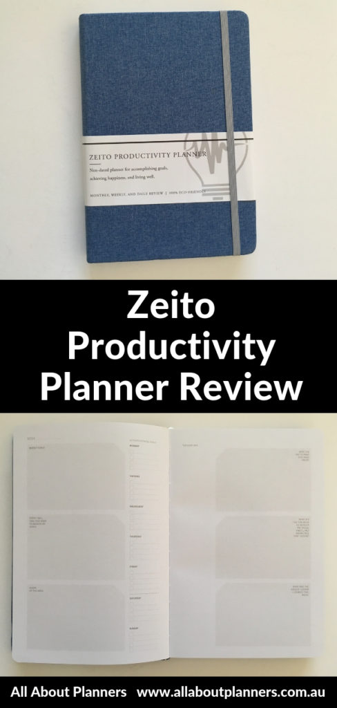 Zeito productivity planner review pros and cons vertical hourly layout horizontal best planner for students sewn bound school