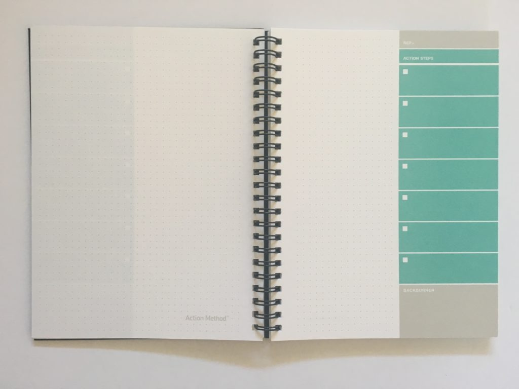 action plan book dot grid project planner a5 simple minimalist checklist steps