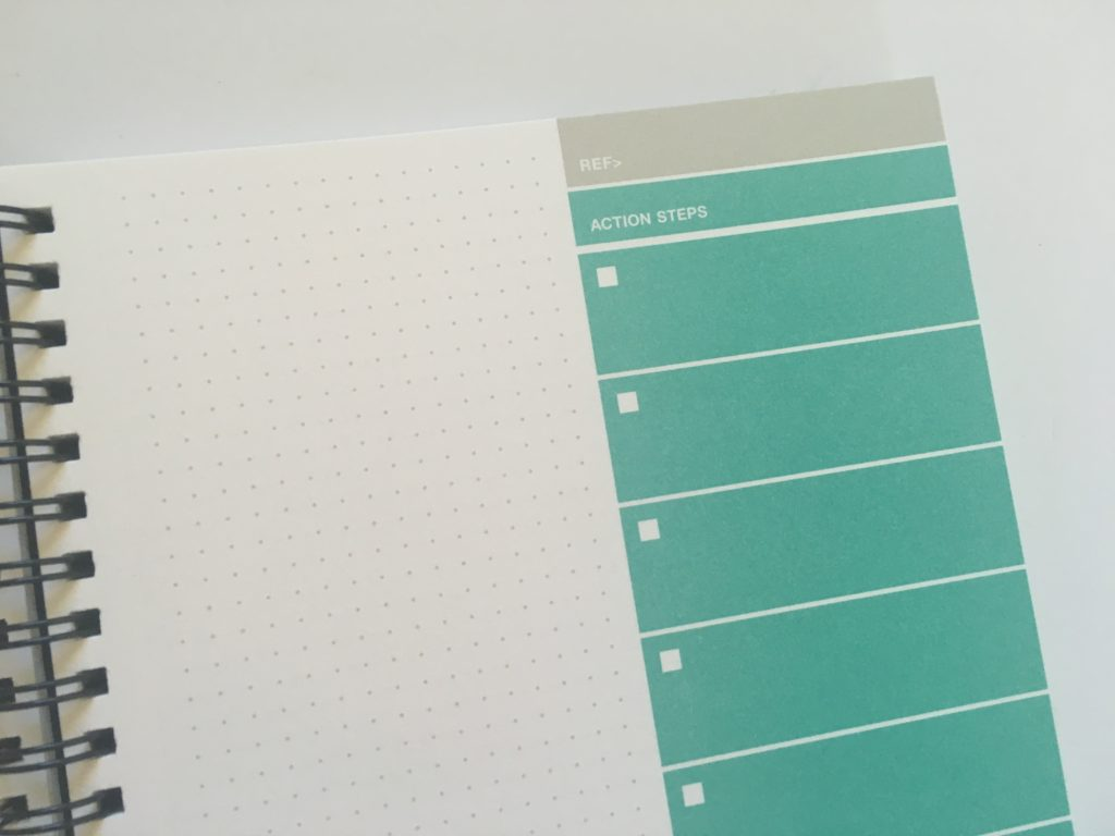 action plan book dot grid project planner a5 simple minimalist checklist steps review