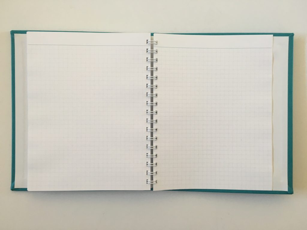 agendio graph paper square grid custom personalised notebook review bright white paper