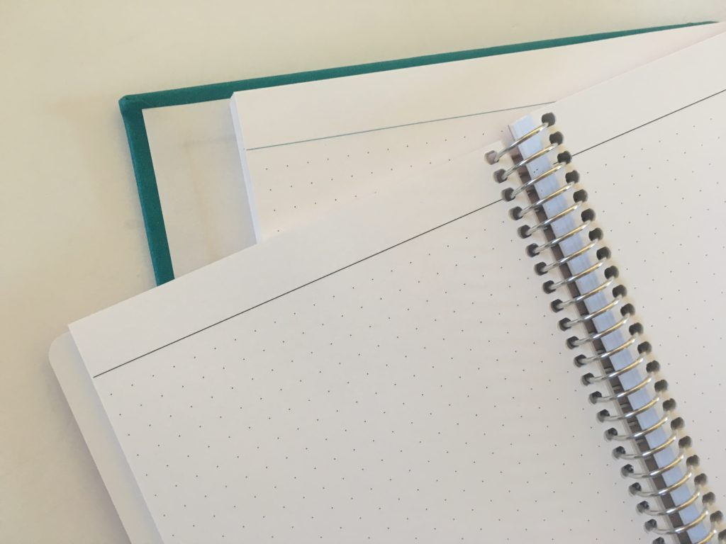 agendio planners comparison hardcover versus softcover a5 and medium size bright white paper colorful versus neutral