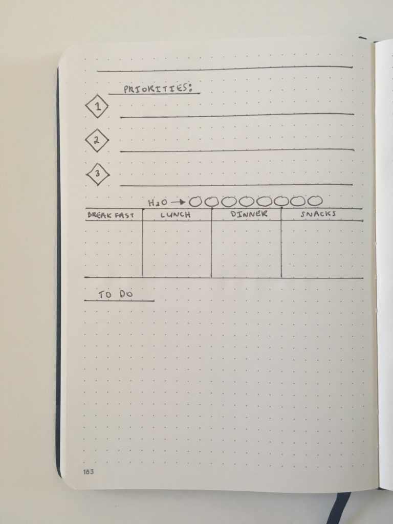 bullet journal daily spread minimalist quick simple day to a page bujo layout