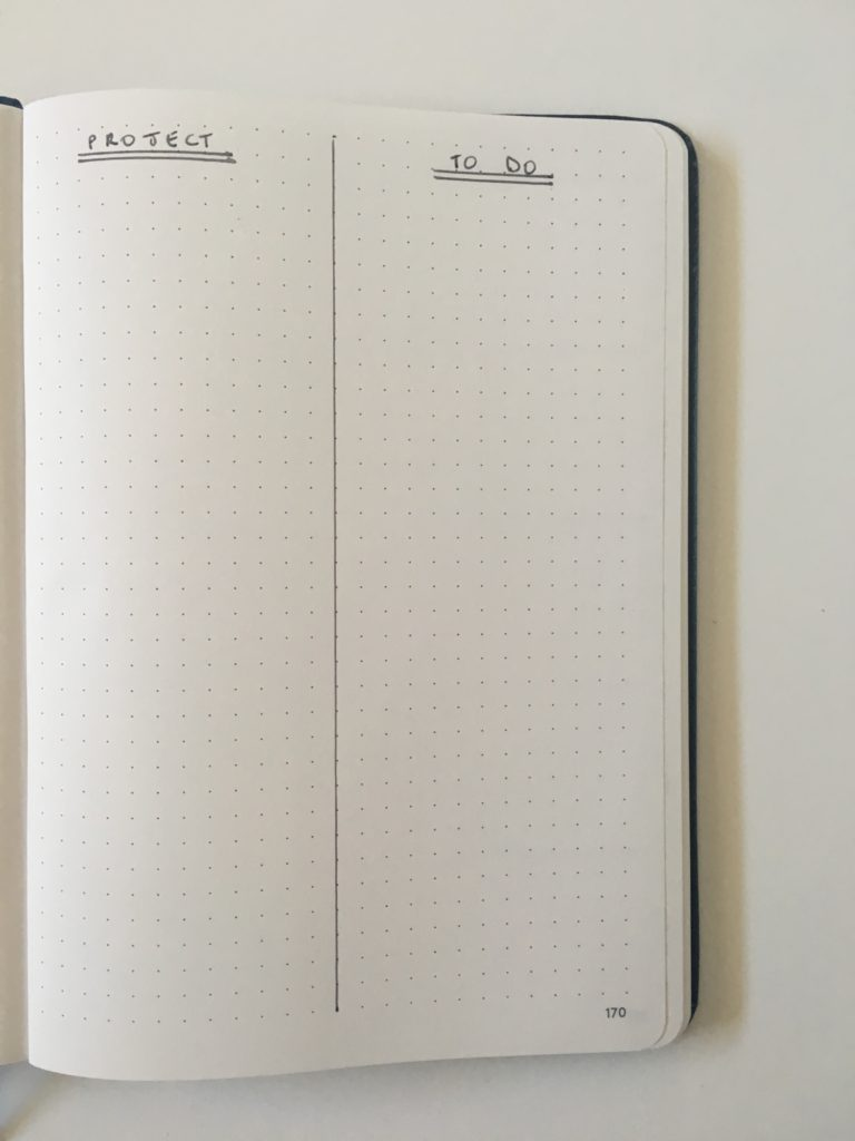 bullet journal day to a page vertical hourly layout appointments simple quick easy minimalist project to do checklist
