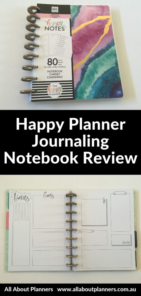 happy planner journaling notebook review dot grid discbound classic comparison with happy notes pen test