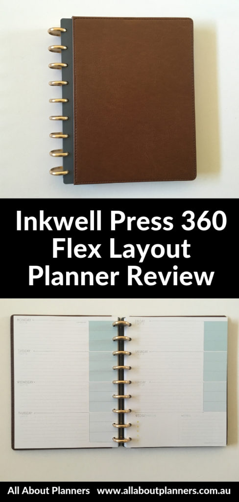 inkwell press 360 flex layout planner review horizontal monday start minimalist discbound colorful paper quality pen test ghosti