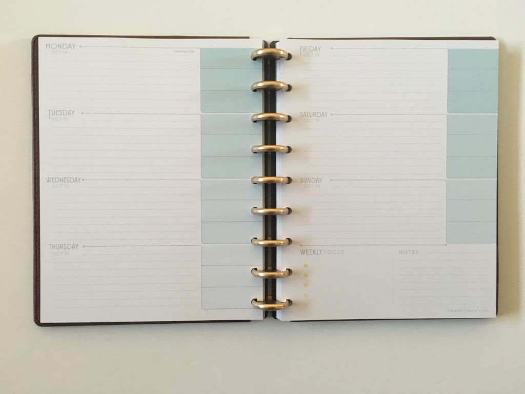 inkwell press flex horizontal layout blue top 3 for each day or meal planning monday week start 360 discbound