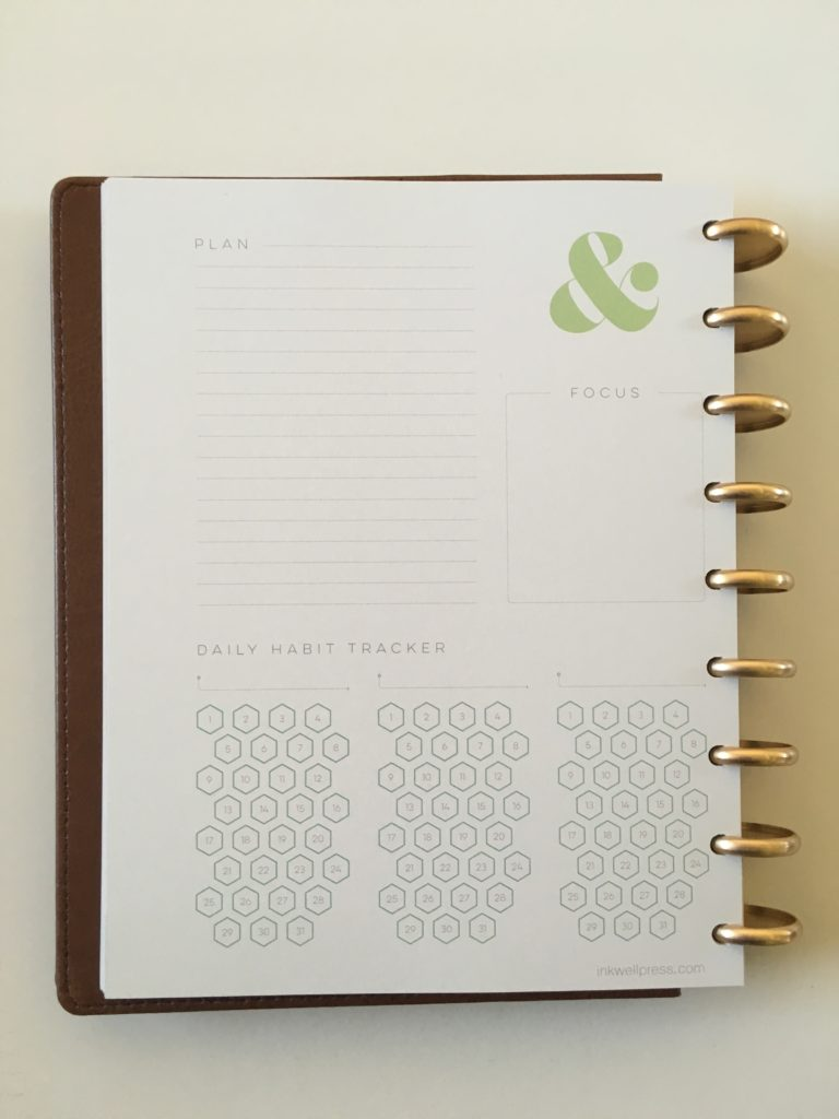 inkwell press monthly planning page habit tracker notes productivity goals pen test paper quality review