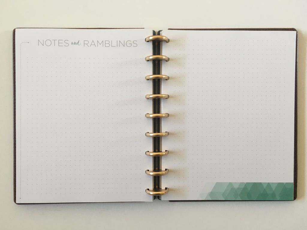 inkwell press planner review monthly notes paegs in discbound 360 with vegan leather cover