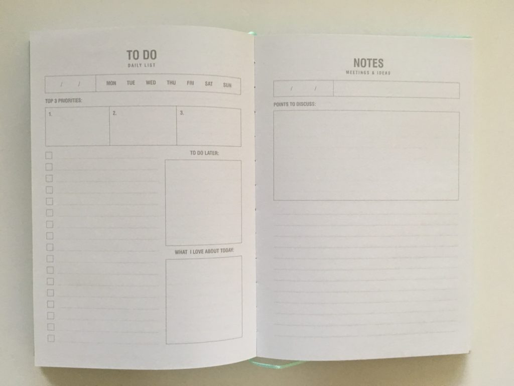 kmart life admin planner 2 pages per day lined notes undated perpetual cheap