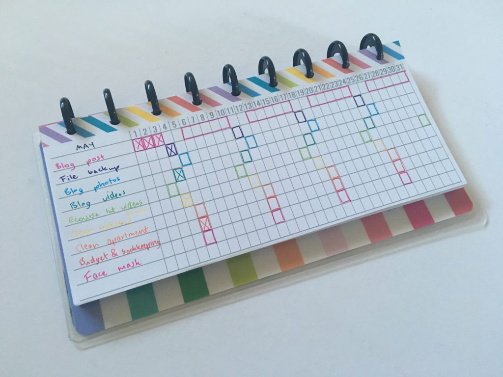 mambi half sheet printable habit tracker rainbow pdf happy notes