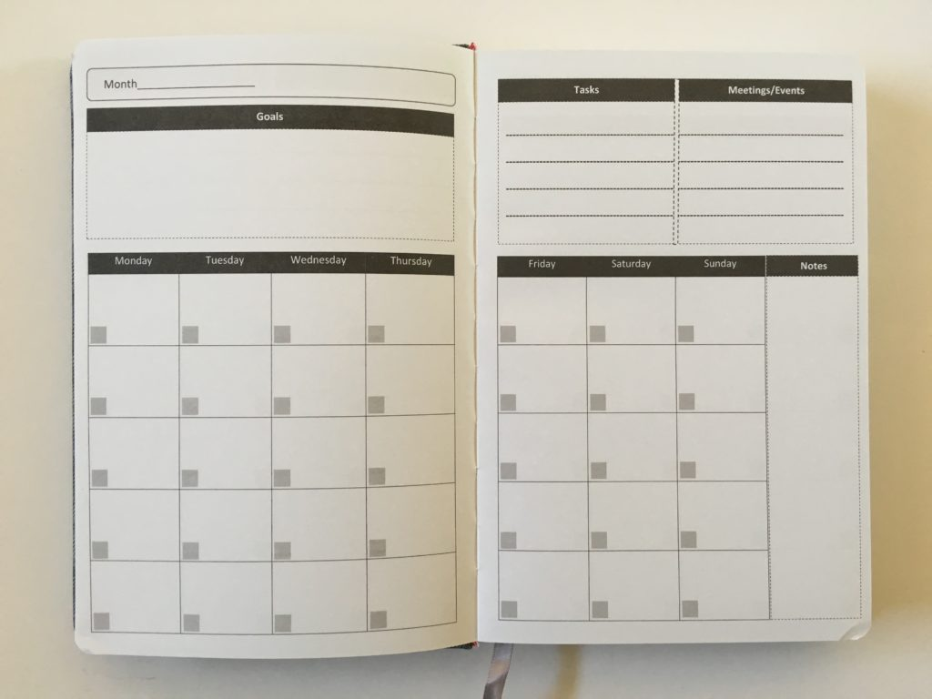 penguin planner monthly calendar review undated goals events notes a5 page size start anytime daily