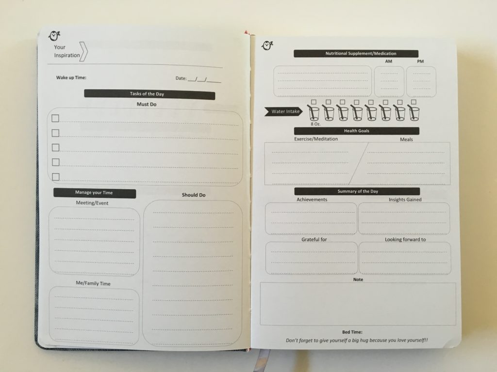 penguin planner daily planner 2 pages per day undated no schedule checklist water tracker health gratitude must do should do family relationships personal