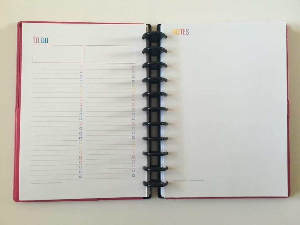 rainbow printable weekly planner spread arc discbound notebook inserts minimalist template diy