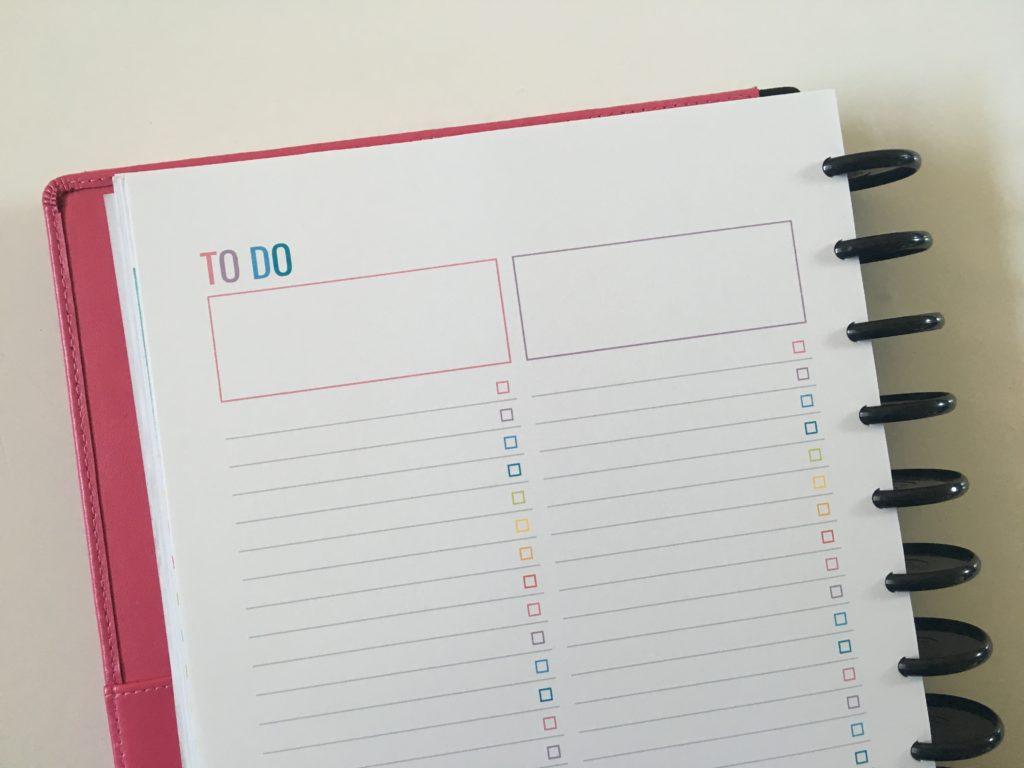 rainbow printable weekly planner spread arc discbound notebook inserts minimalist template diy checklist work project personal