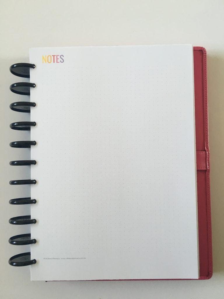 rainbow printable weekly planner spread arc discbound notebook inserts minimalist template diy dot grid bullet journal note insert bujo