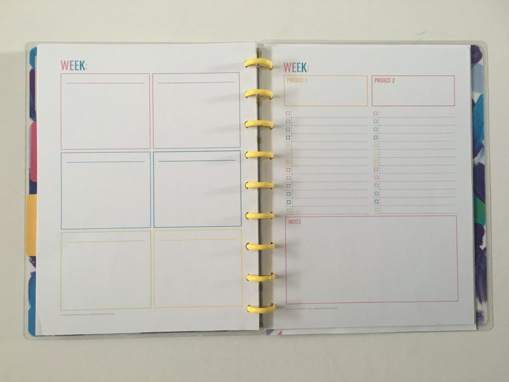 using the ARC punch with MAMBI happy planner are they compatible disc size spacing diy inserts free printable dot grid page for the happy notes