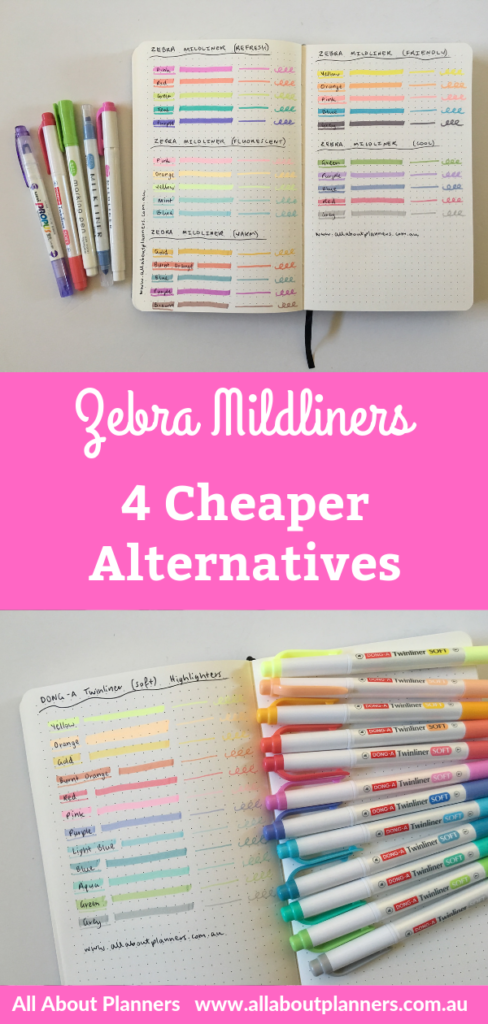 zebra mildliner highlighters cheaper alternatives that are just as good dual tip rainbow bujo supplies planning tips