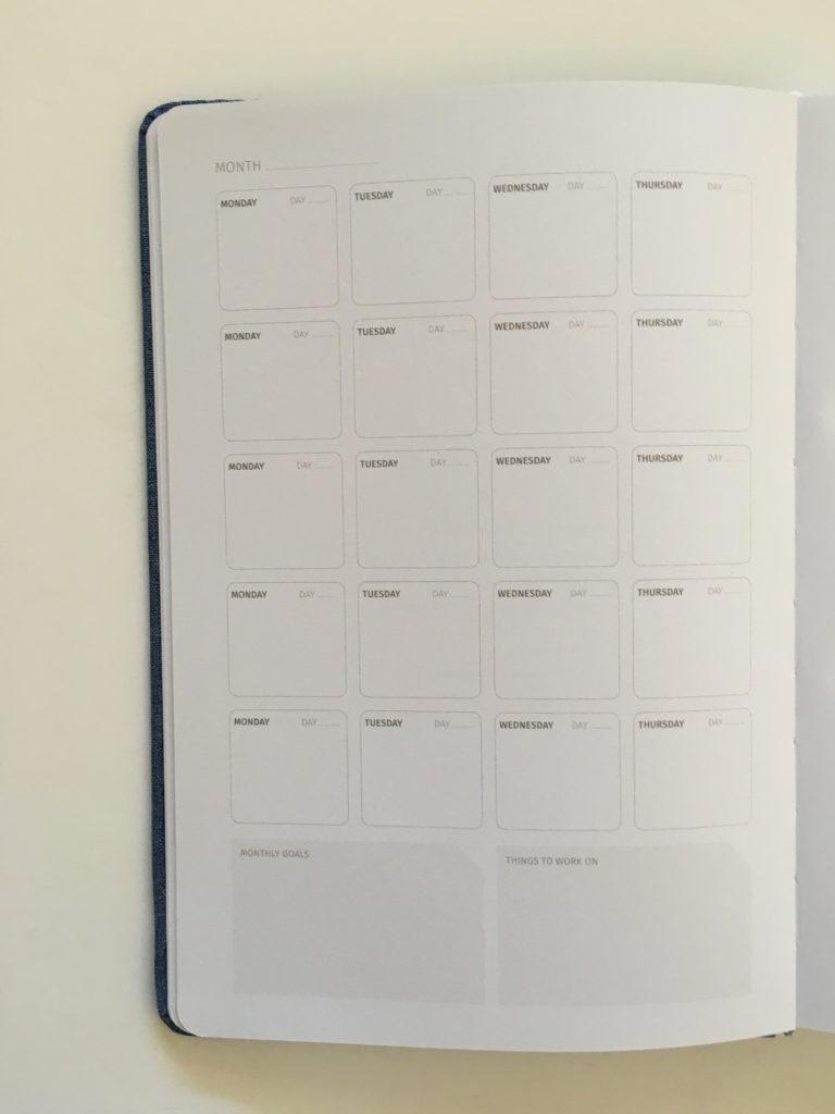 zeito planner review monthly calendar undated perpetual gender neutral minimalist