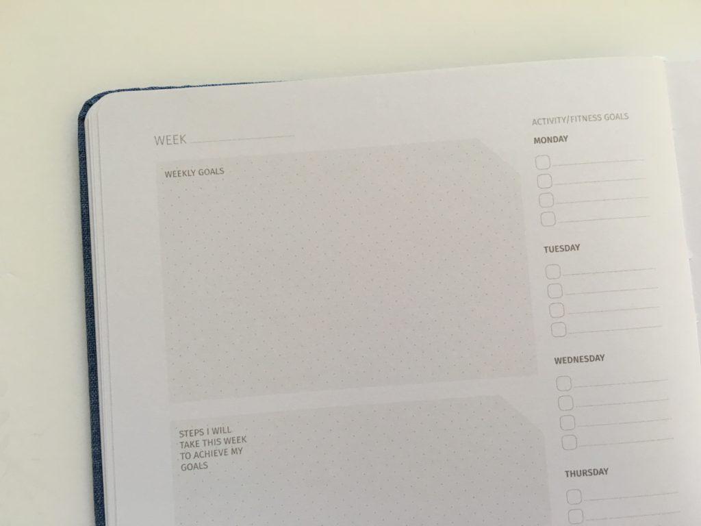 zeito productivity planner horizontal spread monday start