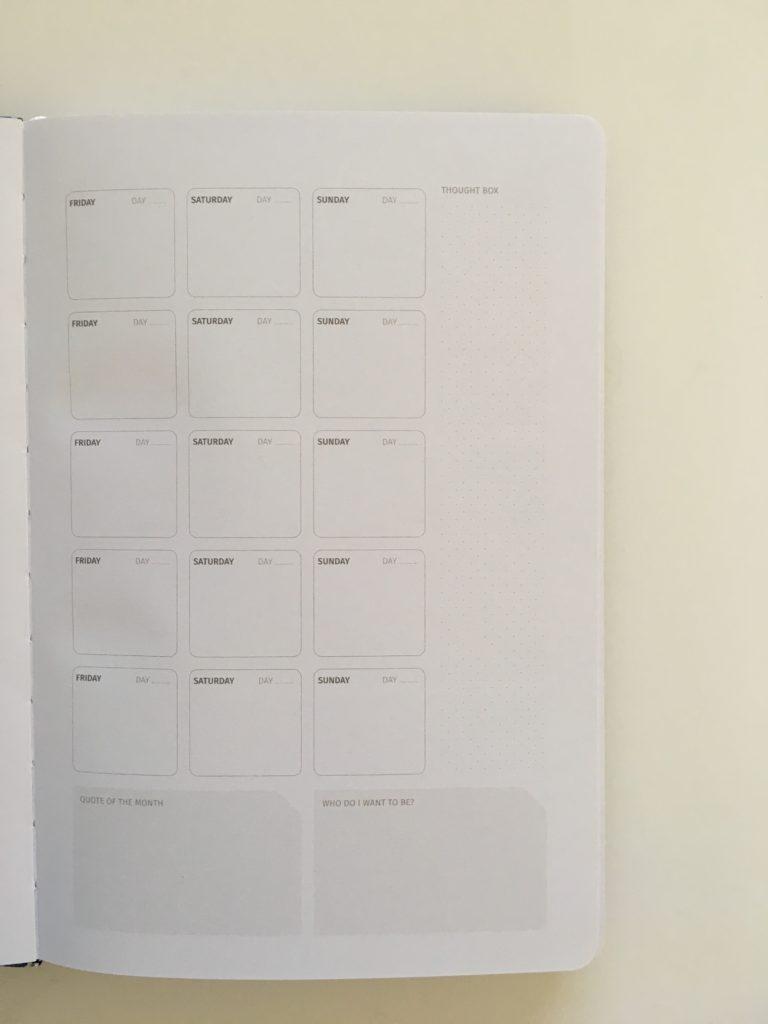zeito productivity planner monthly calendar undated perpetual gender neutral minimalist