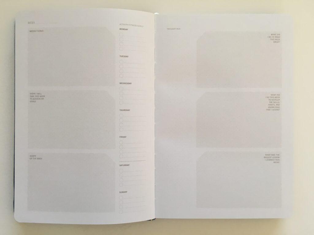 zeito productivity planner weekly horizontal simple minimalist goals undated gender neutral project goals tracker