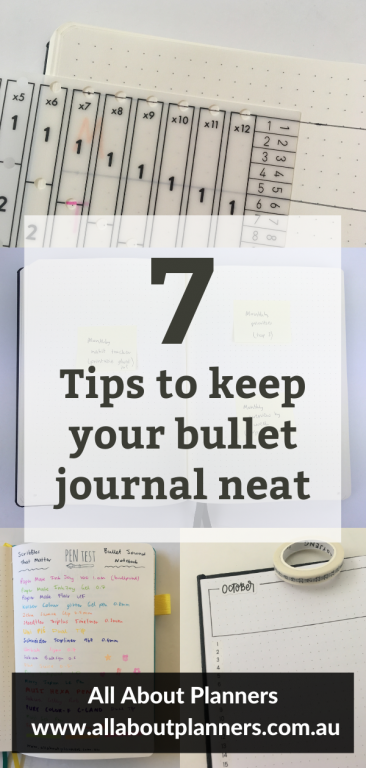 7 tips to keep your bullet journal neat bujo newbie all about planners how to effectively use your bullet journal
