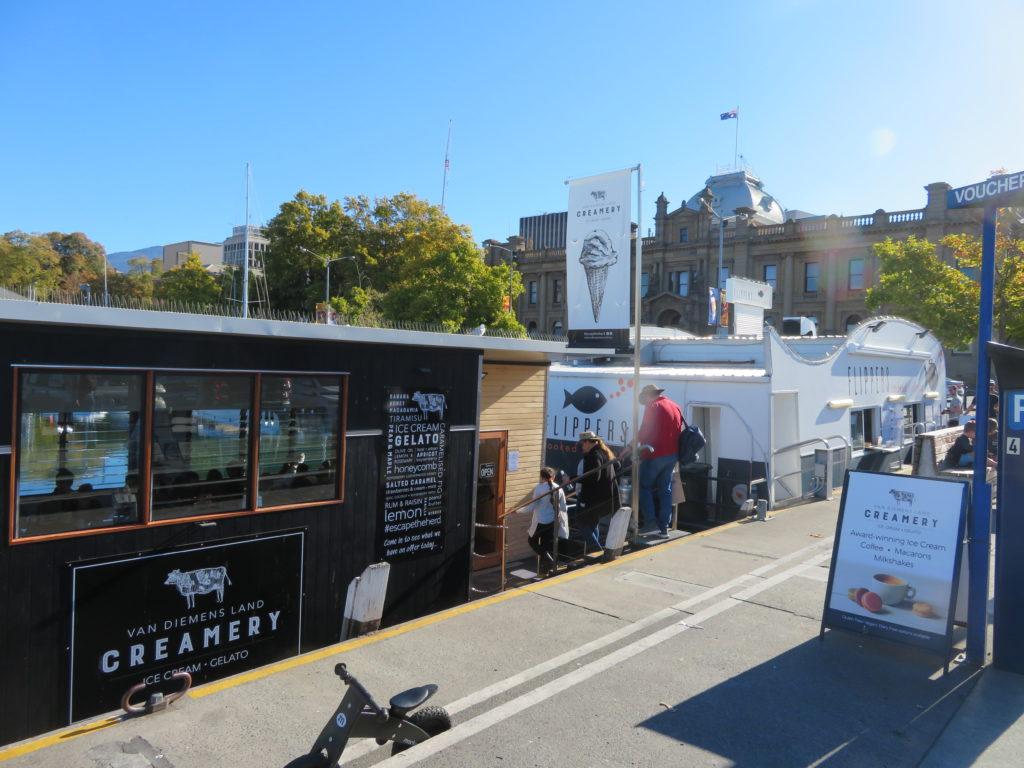 Hobart van diemen ice creamery tasmania waterfront gelato constitution dock