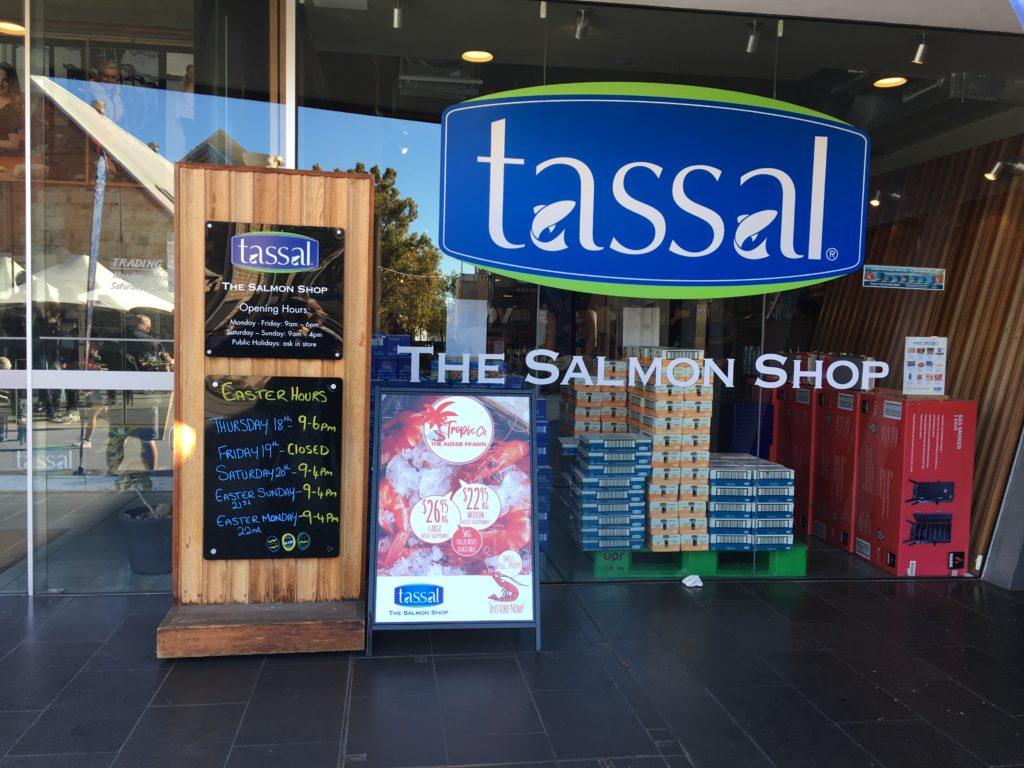 Tasmania tassel salmon shop salamanca