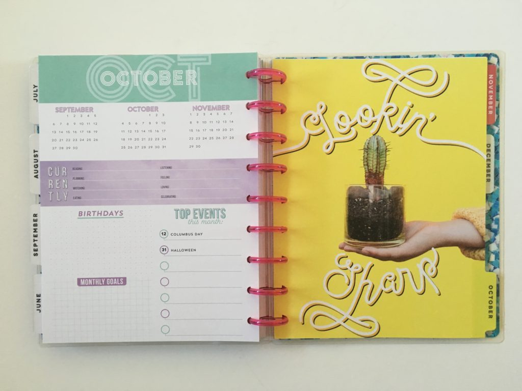MAMBI color block weekly planner monthly planning page pastel colors we rise cover review