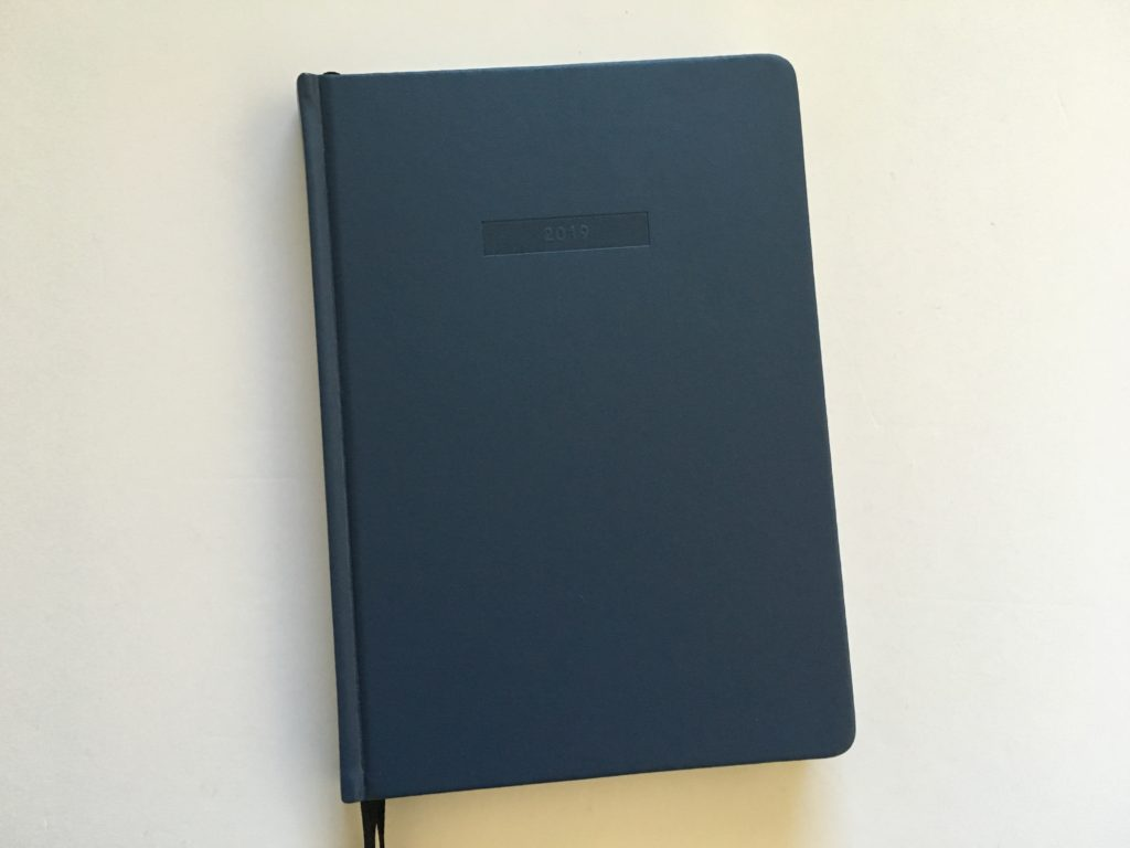 Mi goals weekly planner review 2019 horizontal layout monday week start sewn bound hardcover minimalist gender neutral australia