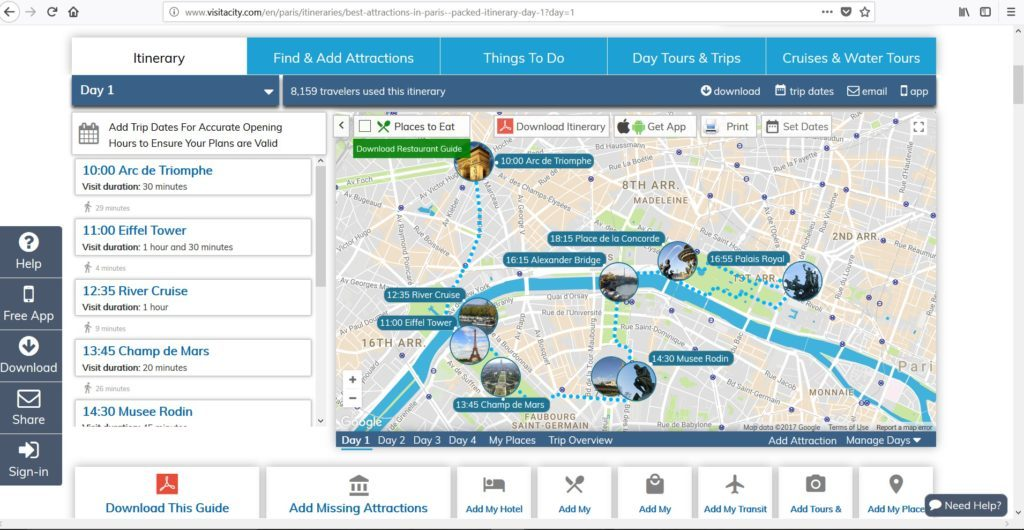 Visit a city itinerary and map plotting tool how to tutorial review guide video comparison with google my maps