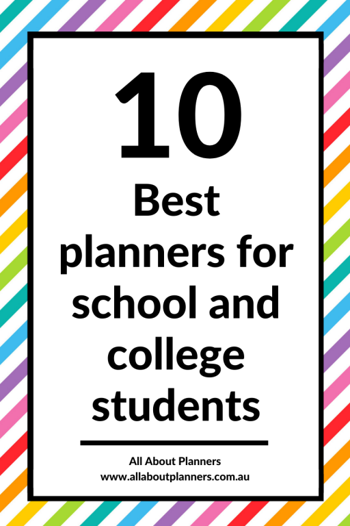 best planners for school and college students daily and weekly layouts monday week start academic calendar year all about planners