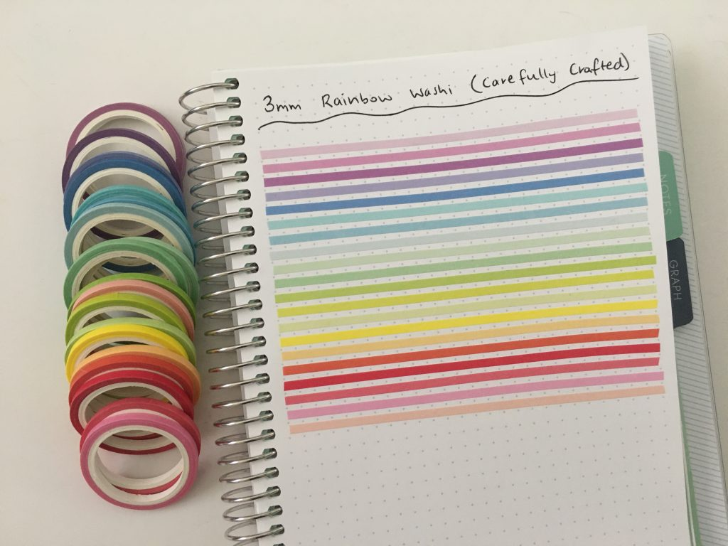 best thin washi tape for bullet journaling rainbow 3mm favorite planning supplies minimalist decorating