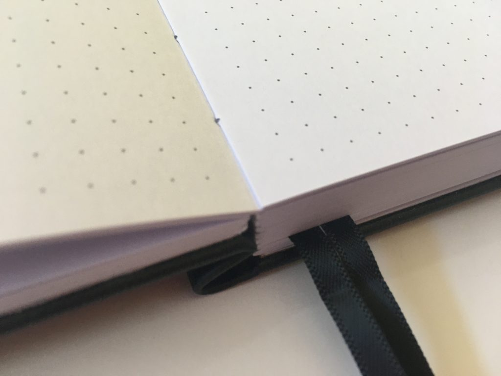 buke stationery dot grid notebook review 180gsm thick paper no ghosting or bleed through pen testing hardcover cheap best quality paper value for money bright white_06