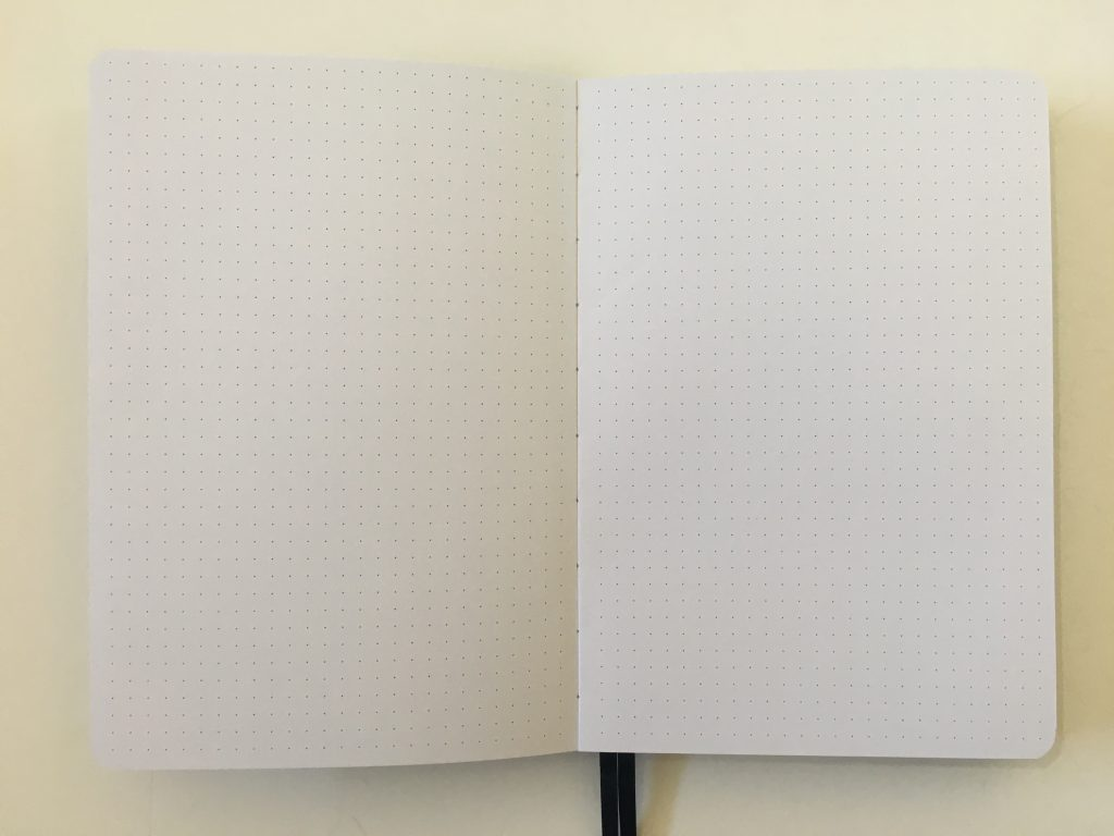 buke stationery dot grid notebook review 180gsm thick paper no ghosting or bleed through pen testing hardcover cheap best quality paper value for money bright white_07