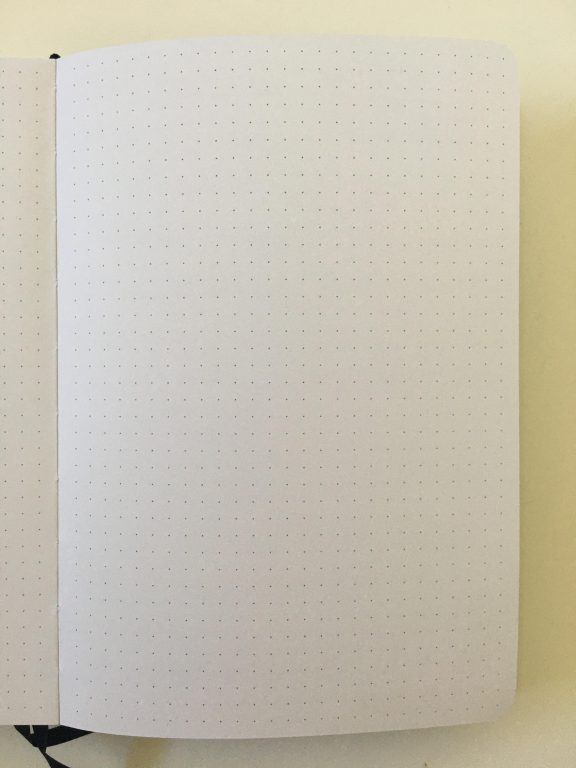 buke stationery dot grid notebook review 180gsm thick paper no ghosting or bleed through pen testing hardcover cheap best quality paper value for money bright white_11