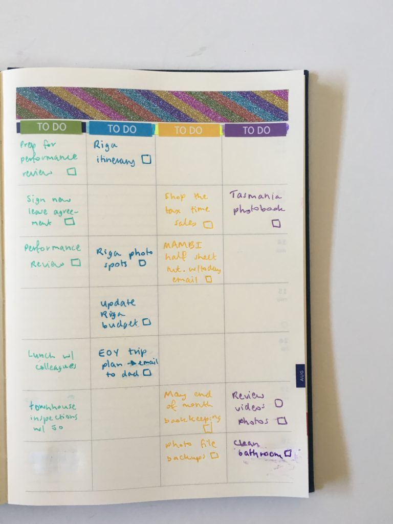 categories weekly spread australian planner colorful rainbow functional header stickers erin condren