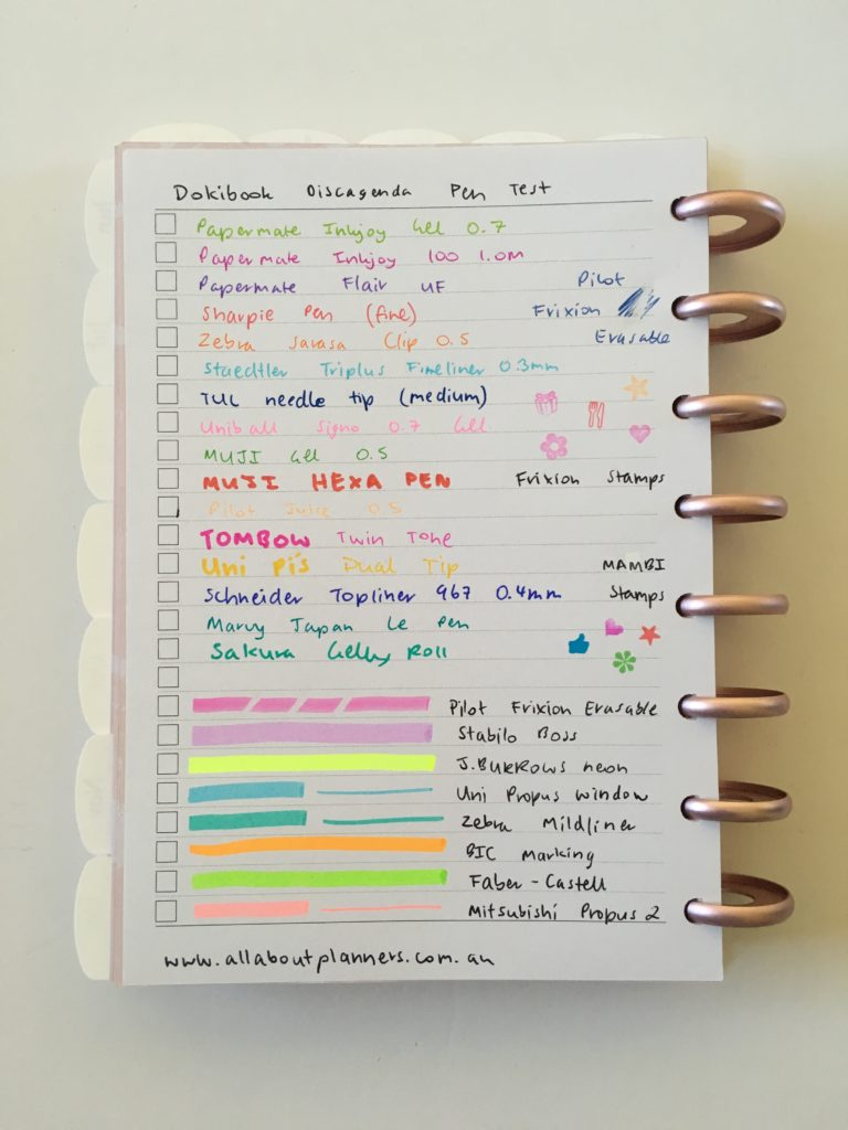 dokibook discagenda planner review pen testing pros and cons paper quality
