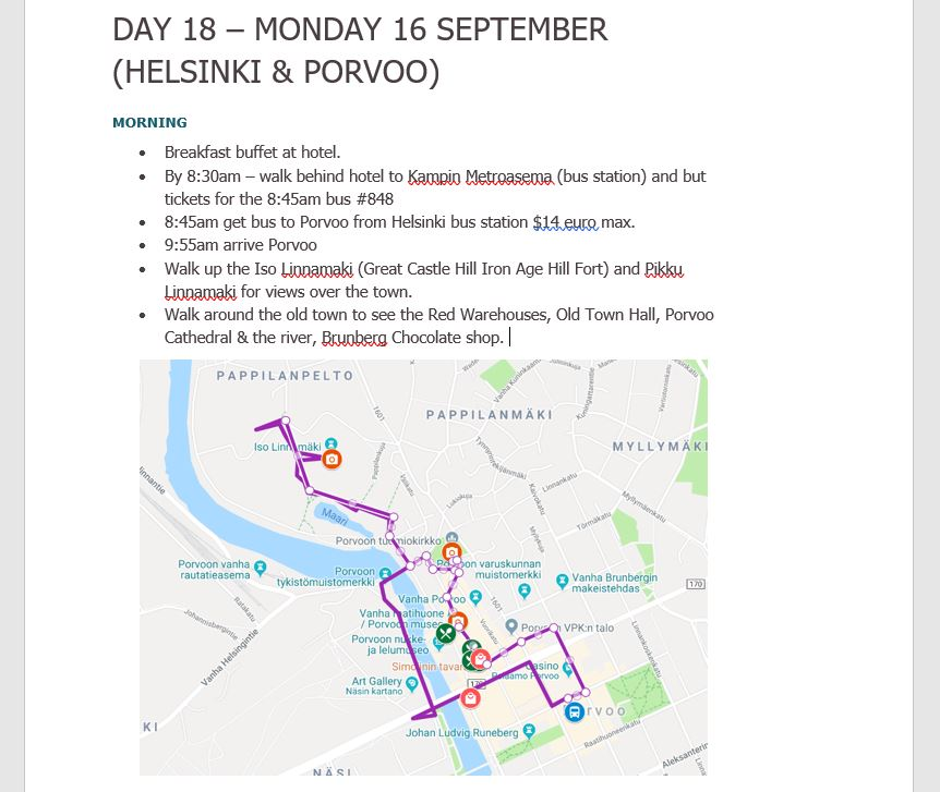 how to plan an itinerary google my maps word document schedule tips ideas