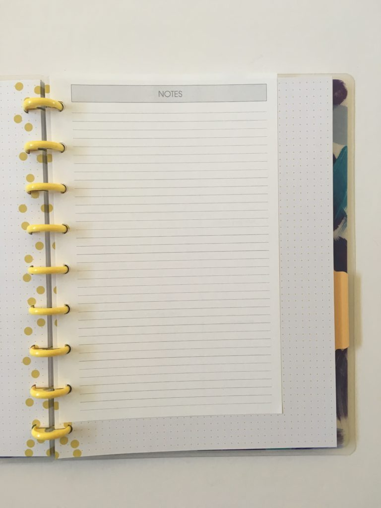 levenger circa us half letter in the happy planner classic size are they compatible disc size and spacing