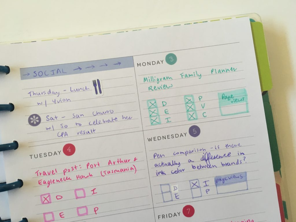 mambi dashboard layout monday start using my happy planner for blogging blog post planning