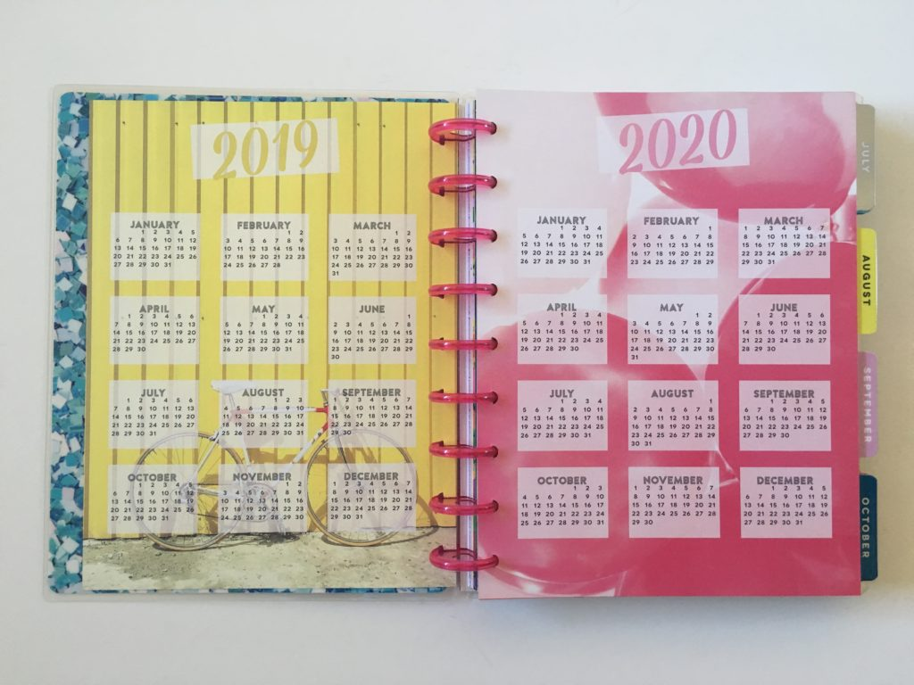 mambi happy planner dates at a glance calendar