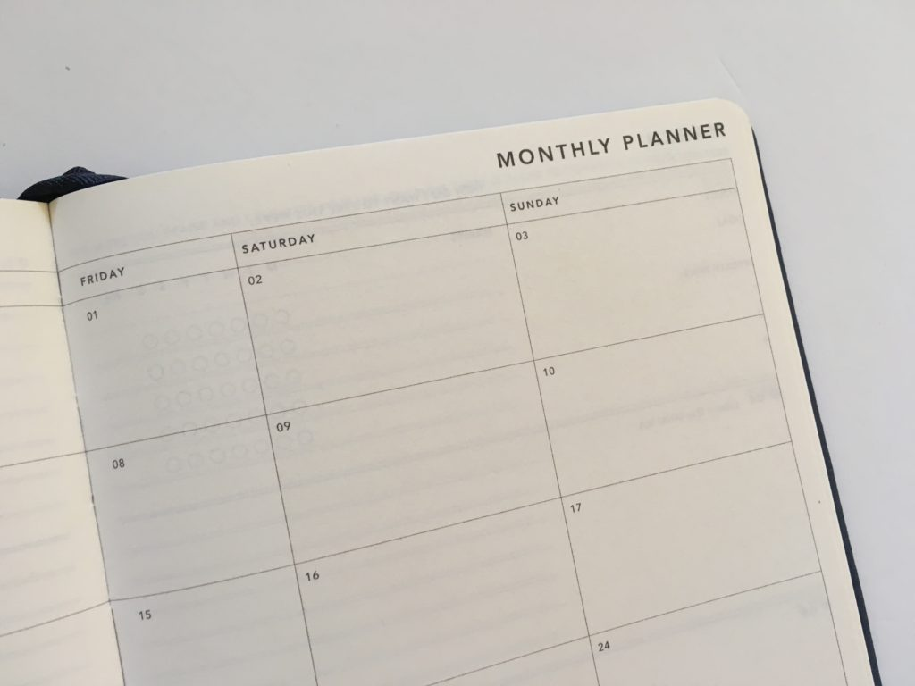mi goals monthly planner weekends combined