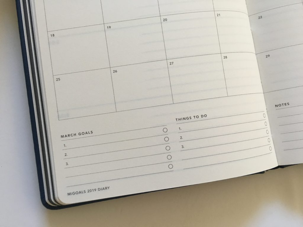 mi goals monthly planner weekends combined monday start goal planning checklist top 3 productivity gender neutral
