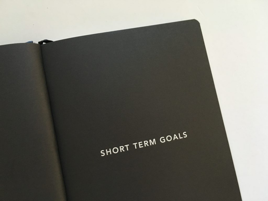 mi goals planner short term goals page